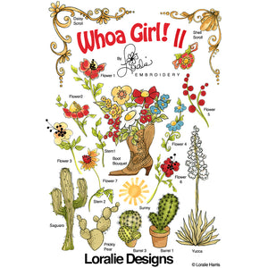 Whoa Girl! 2 Embroidery Machine Design Collection