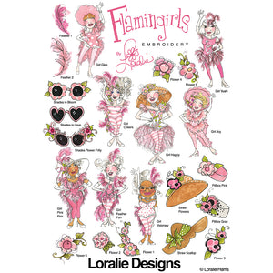 Flamingirls Embroidery Machine Design Collection