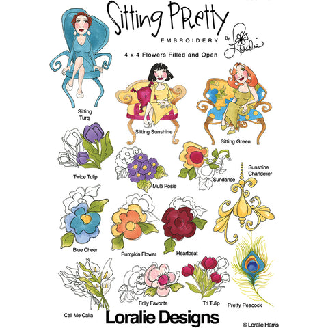 Sitting Pretty Embroidery Machine Design Collection