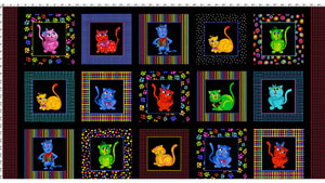 Cool Cats Fabric Panel