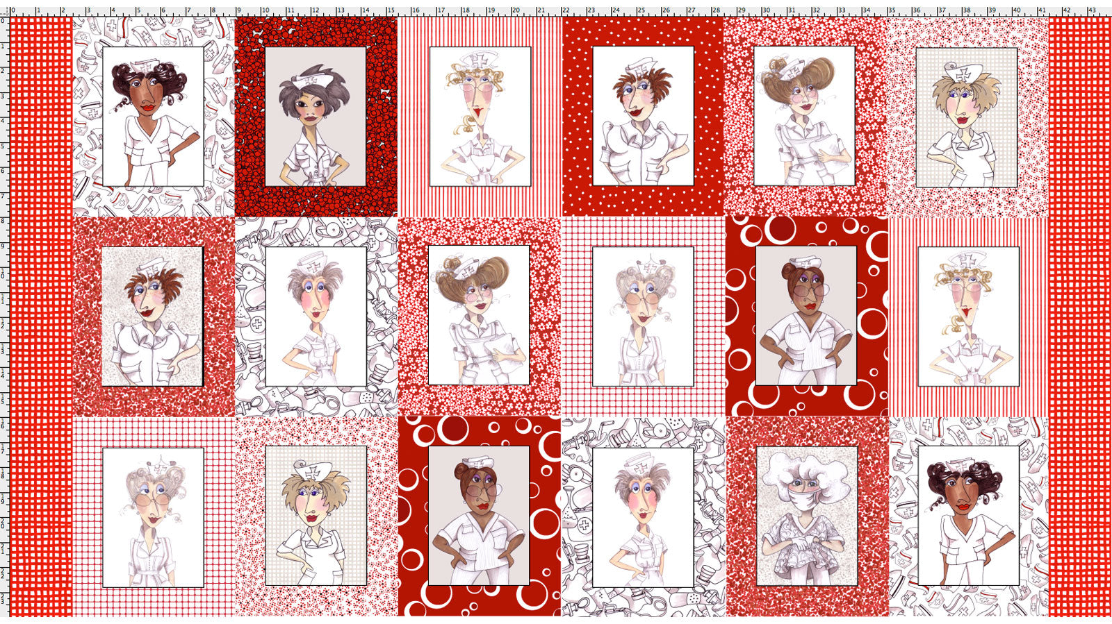 Nifty Nurses Fabric Panel