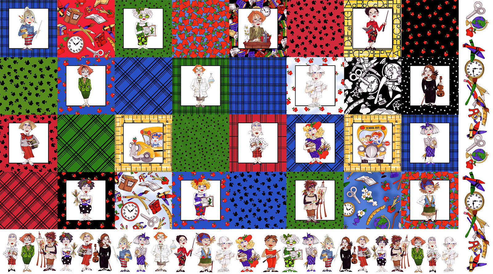 Medley Cool School Fabric Panel