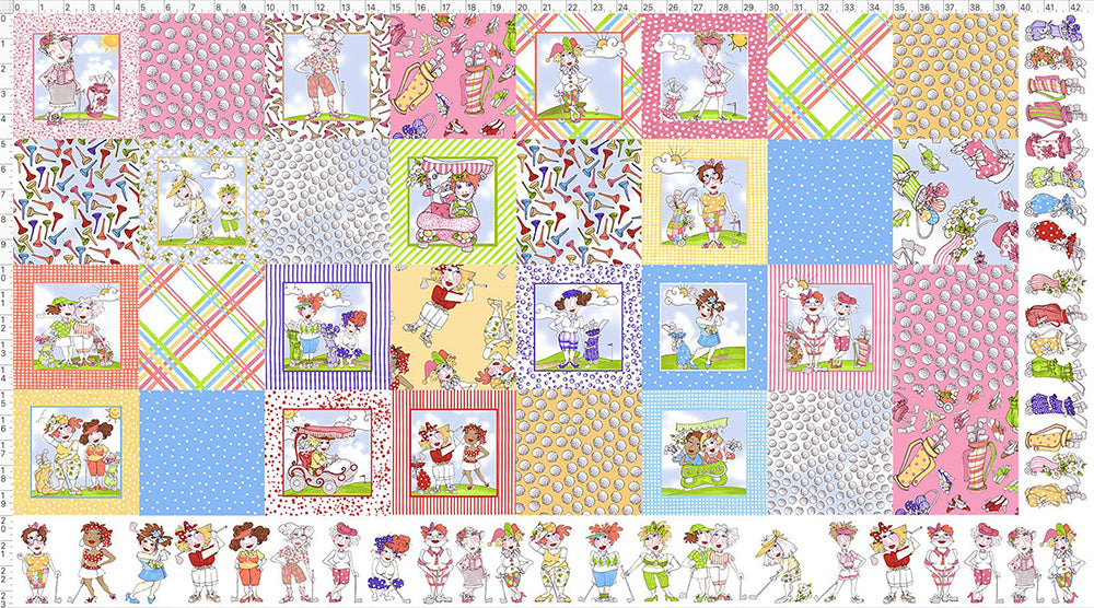 Medley You Golf Girl! Fabric Panel