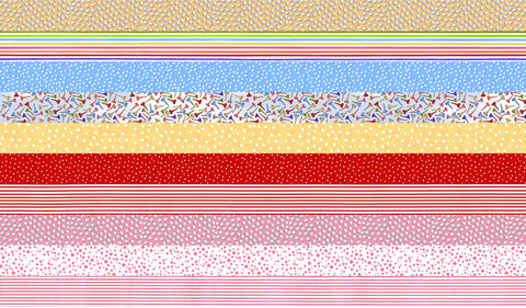 Medley You Golf Girl! Strip Fabric Panel