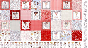 Medley Nifty Nurses Fabric Panel