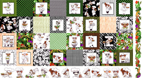 Medley Fun Chefs Fabric Panel