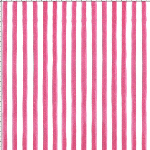 Gulf Stripe Pink Fabric