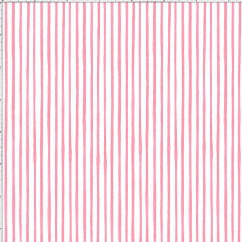 Sweet Stripe Pink Fabric Yard