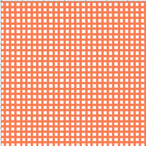 Chipper Check Orange Fabric