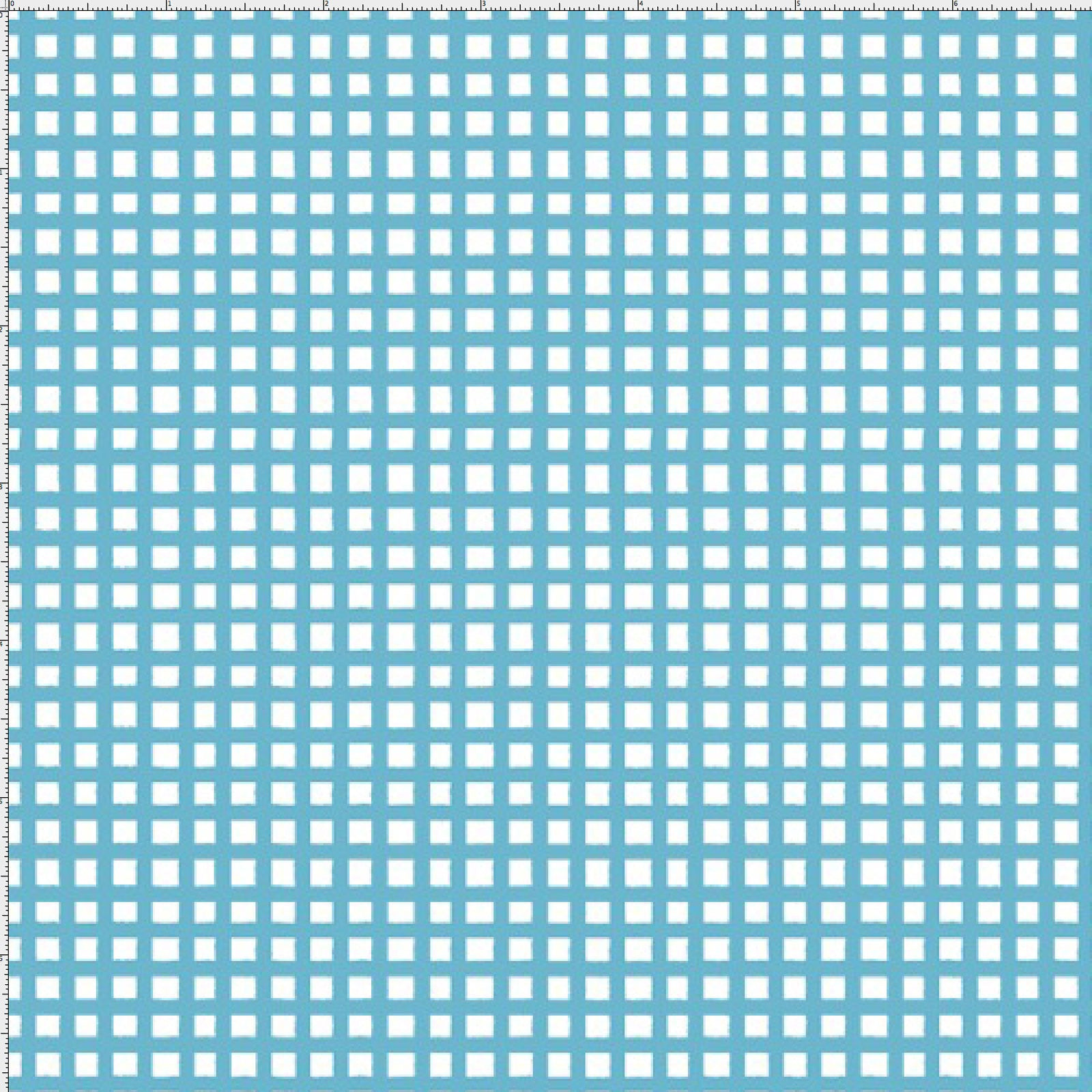 Chipper Check Turquoise Fabric Yard