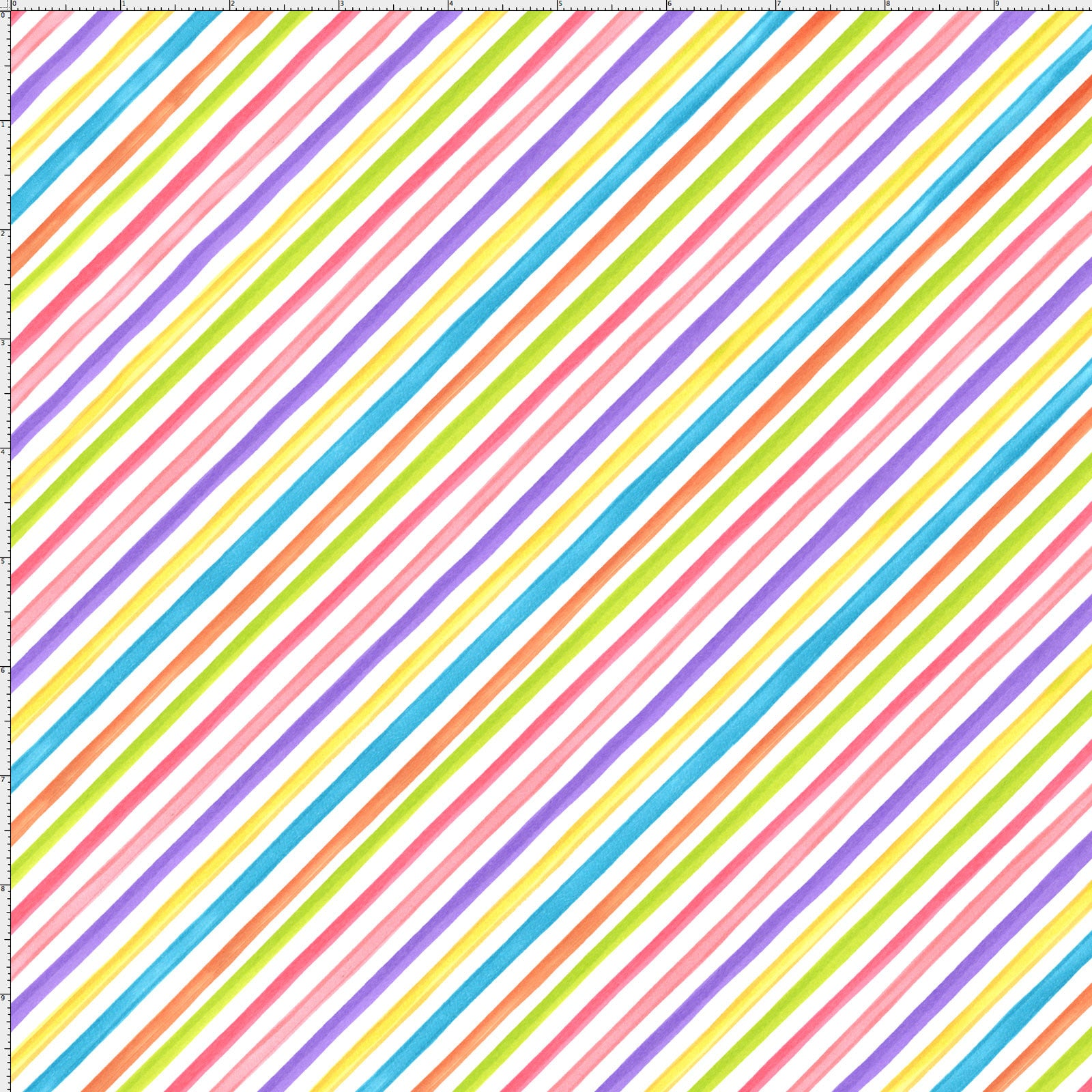 Bias Stripe White Fabric