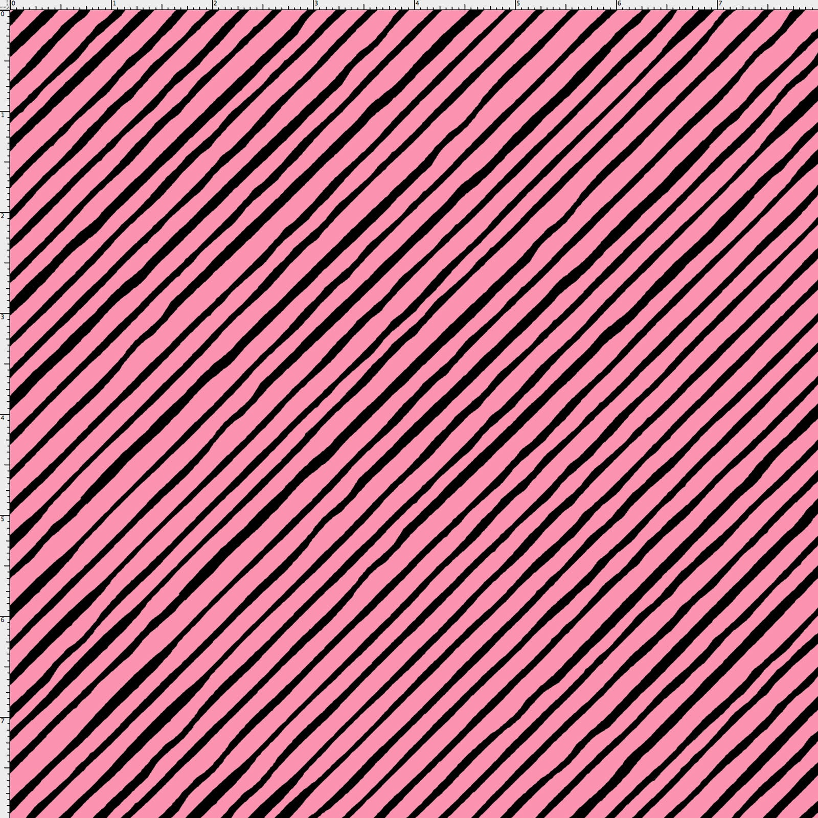 Sorta Stripe Bias Pink / Black Fabric Yard