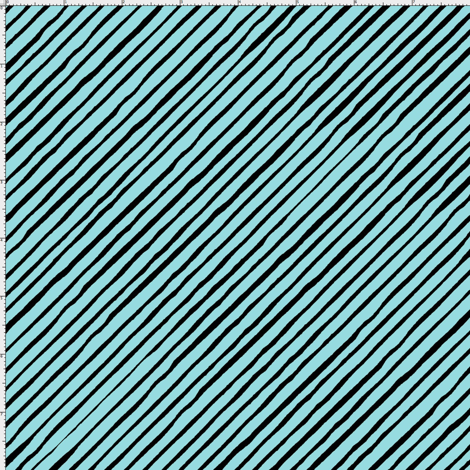 Sorta Stripe Bias Turquoise / Black Fabric Yard