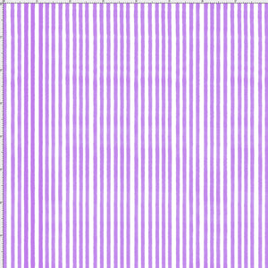 Lazy Stripe Purple / White Fabric Yard