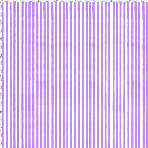 Lazy Stripe Purple / White Fabric