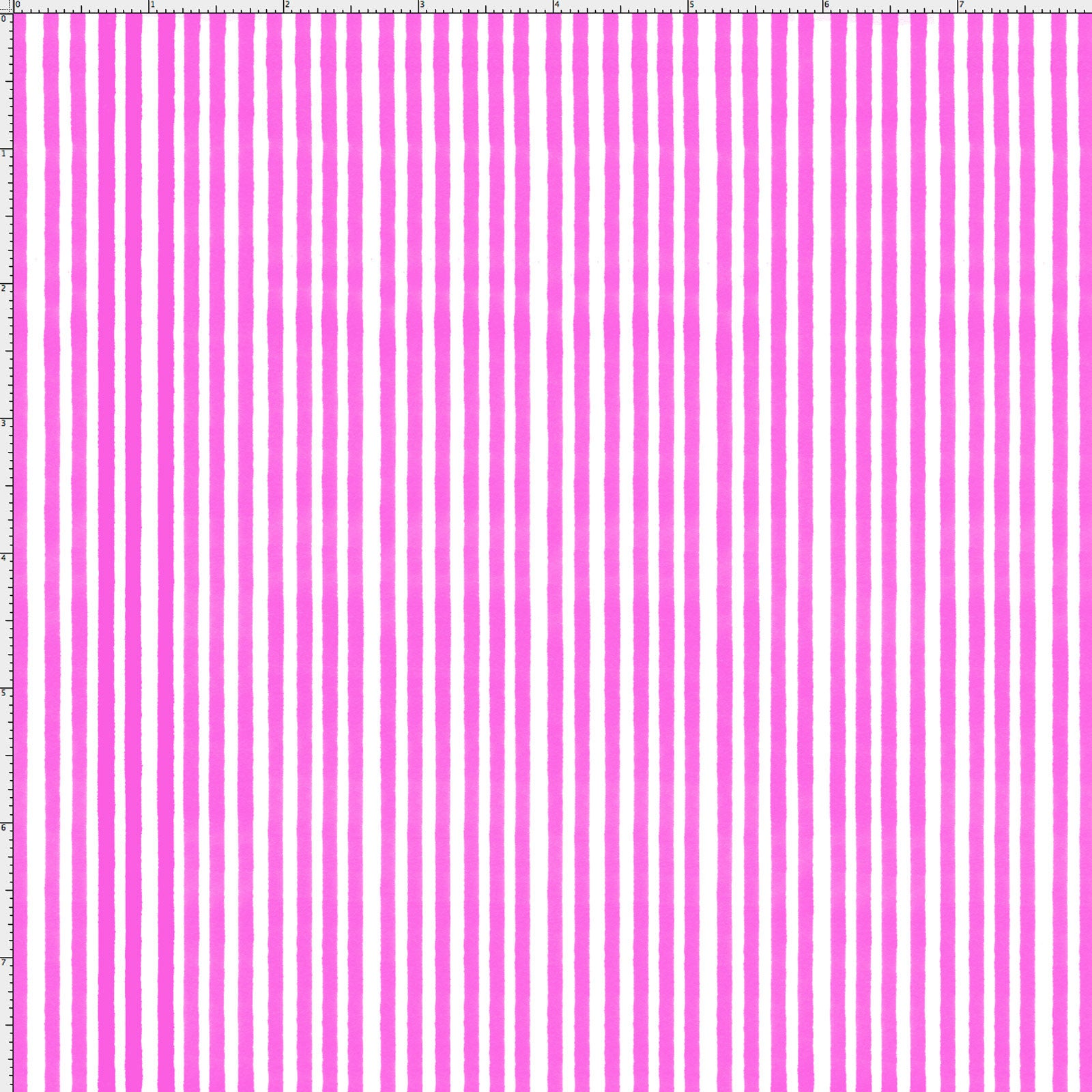 Lazy Stripe Cerise / White Fabric