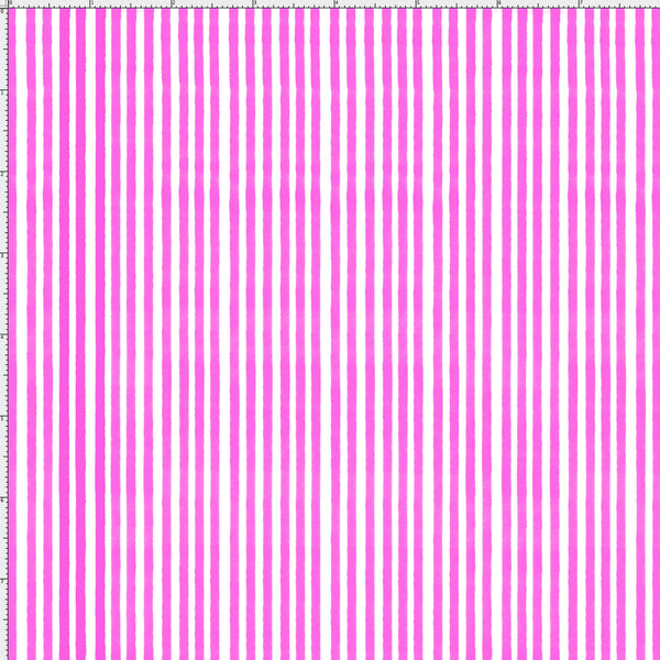 Lazy Stripe Cerise / White Fabric Yard