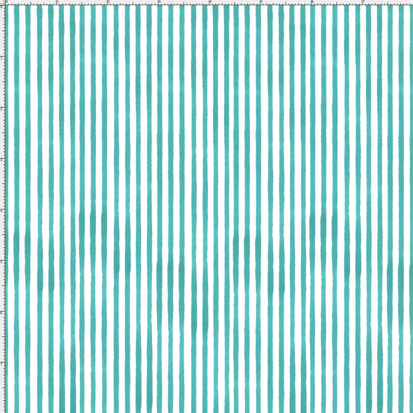 Lazy Stripe Turquoise / White Fabric