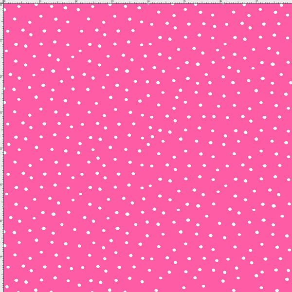 Dinky Dots Bright Pink / White Fabric Yard