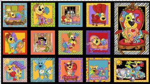 Joy Dog Fabric Panel