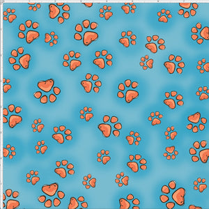 Fun Paws Turquoise Fabric