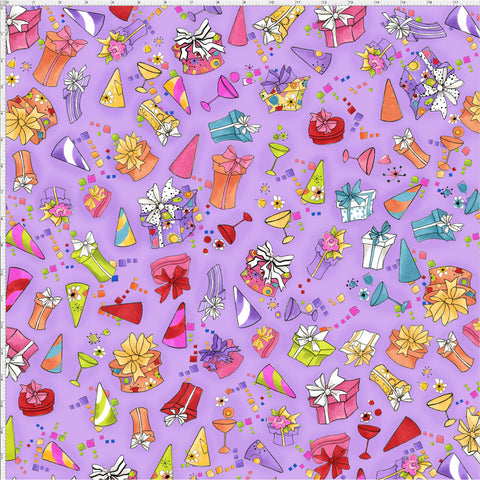 Party Toss Purple Fabric