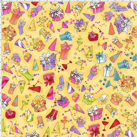 Party Toss Yellow Fabric