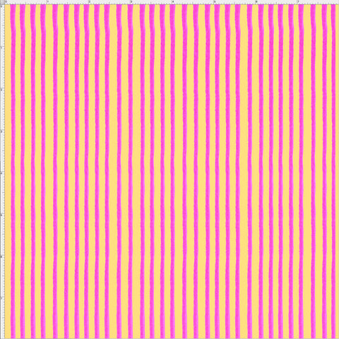 Party Stripe Yellow / Pink Fabric
