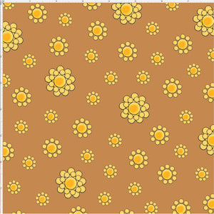 Bandana Dots Tan Fabric