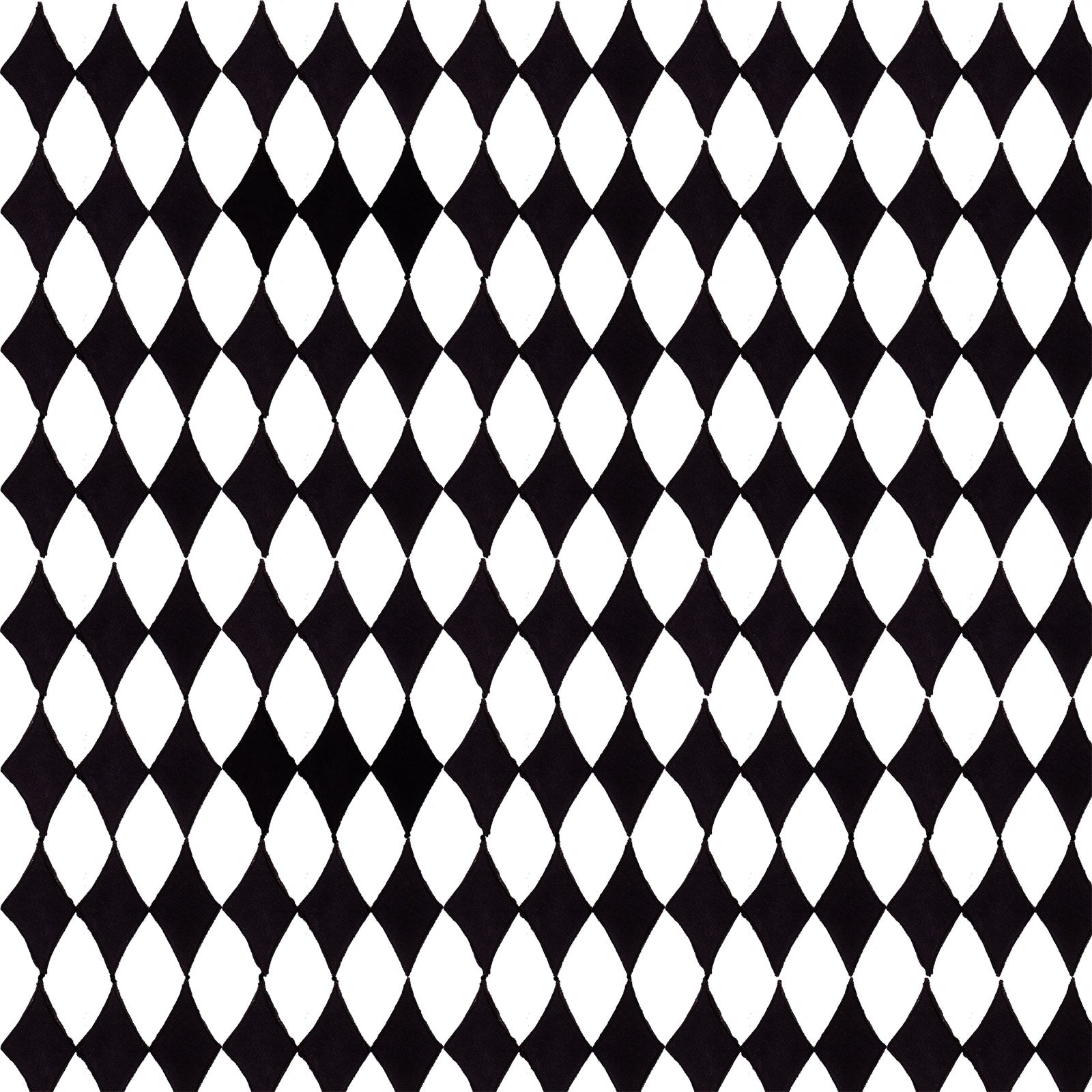 Diamond White / Black Fabric