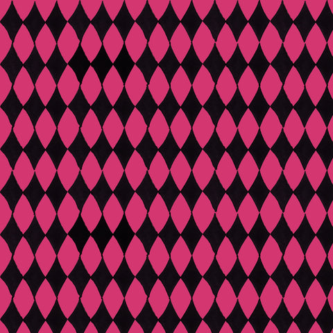 Diamond Cerise / Black Fabric