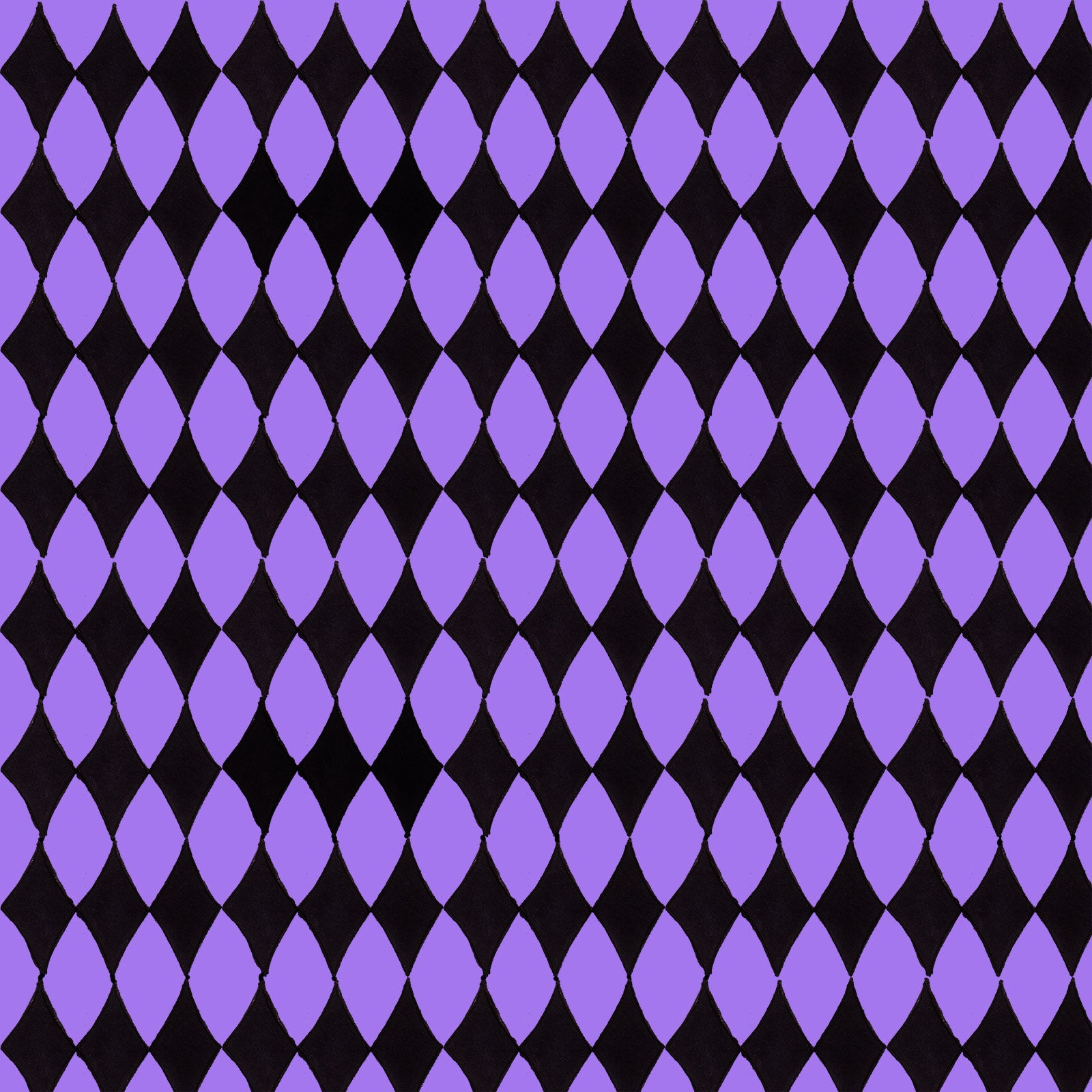 Diamond Purple / Black Fabric