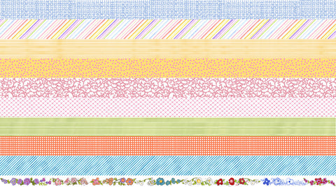 Joy Journey Medley Strip Fabric Panel