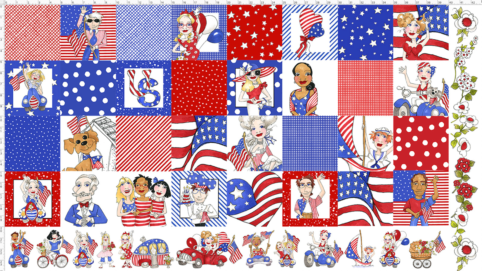 US Medley Fabric Panel