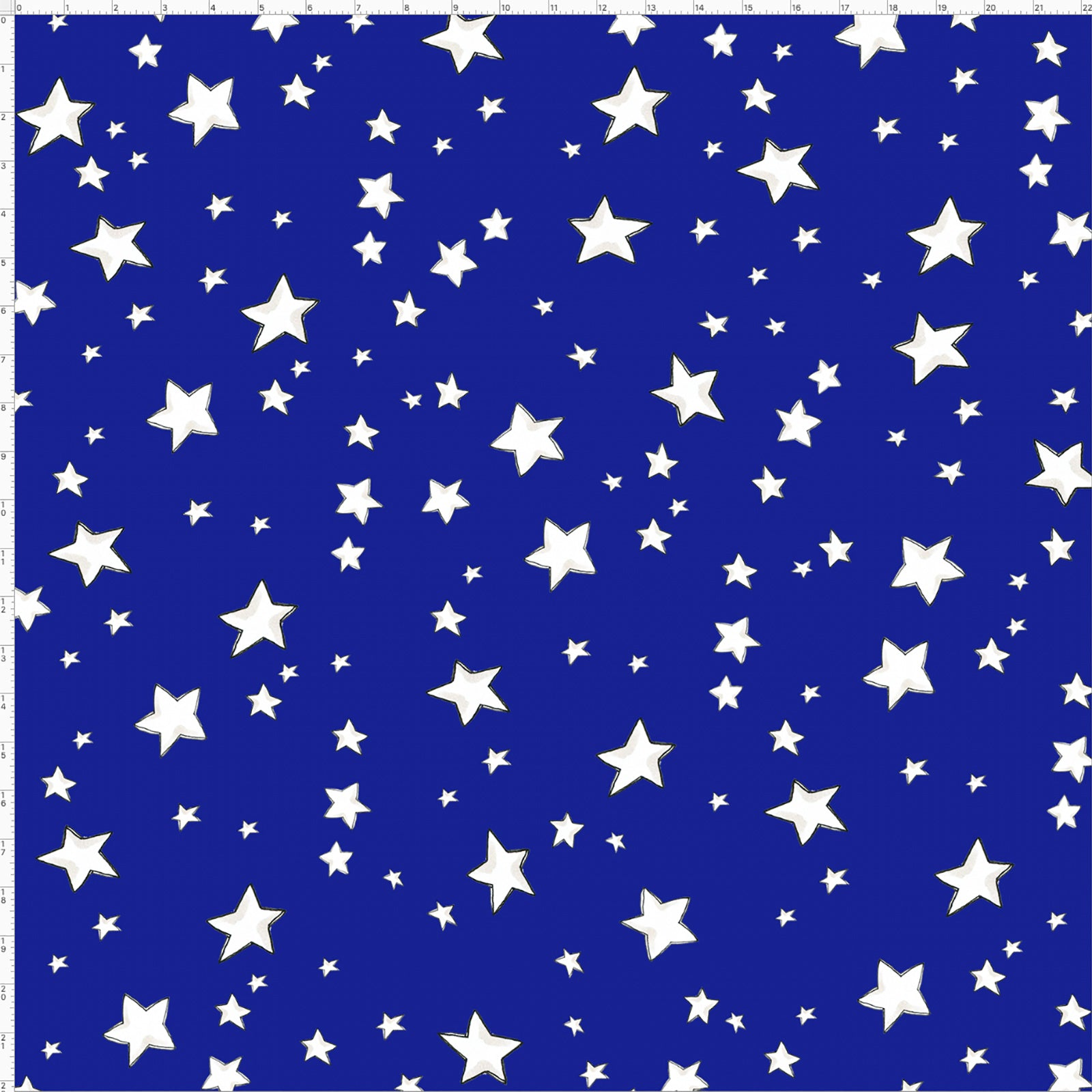 My Stars Blue Fabric