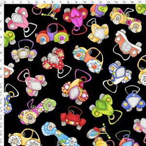 Car Toss Black Fabric