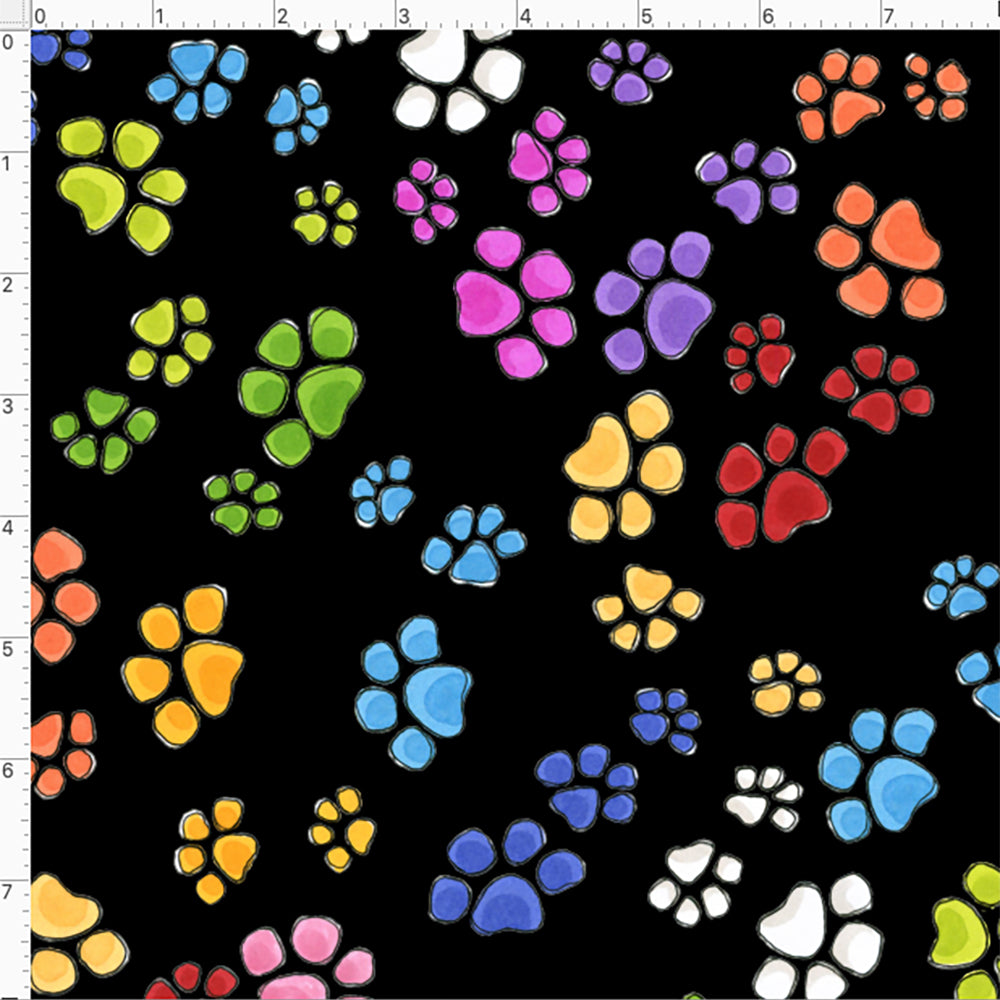 Go Paws Black Fabric
