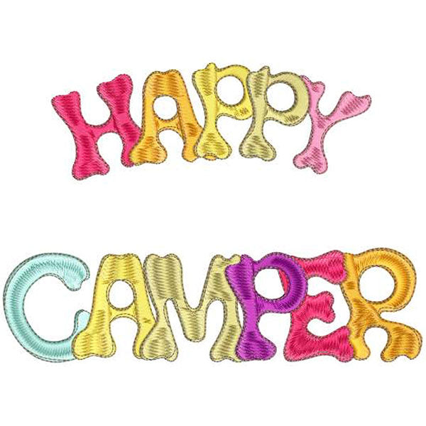 Happy Camper 3 Machine Embroidery Design Collection | Compact Disc