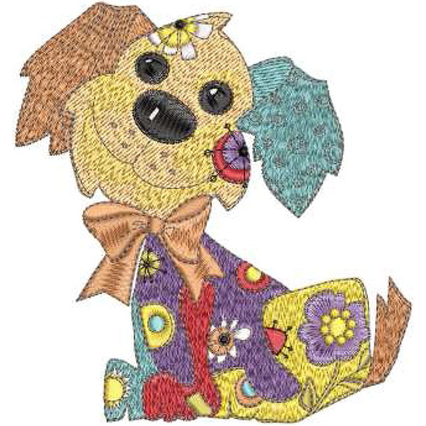 Joy Dog Machine Embroidery Design Collection | Download