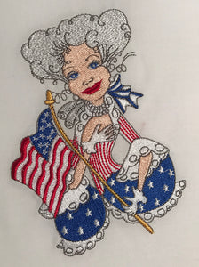 Lady Liberty Embroidery Machine Design | Download