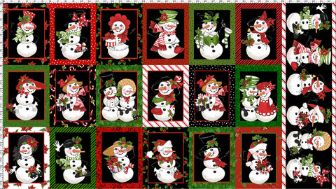Snow Lady Black Fabric Panel