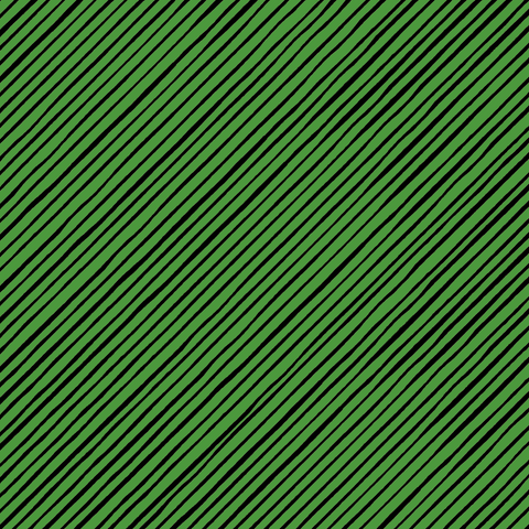 Quirky Bias Stripe Green / Black Fabric