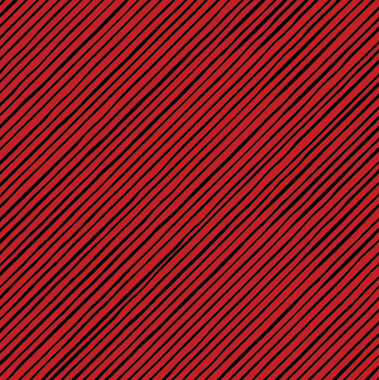 Quirky Bias Stripe Red/Black Fabric