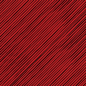 Quirky Bias Stripe Red / Black Fabric