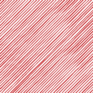 Quirky Bias Stripe White / Red Fabric