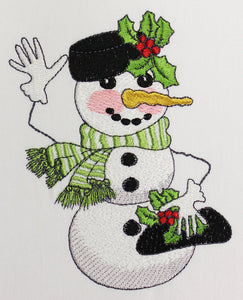 Snow Friendly Embroidery Machine Design | Download