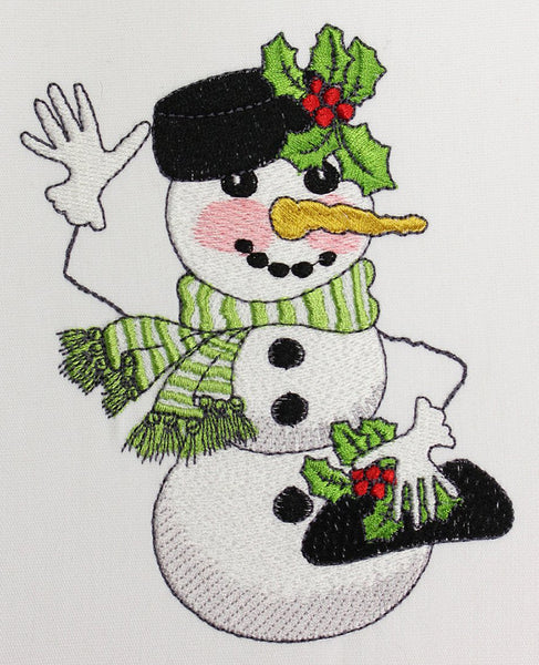 Snow Lady Embroidery Machine Design Collection