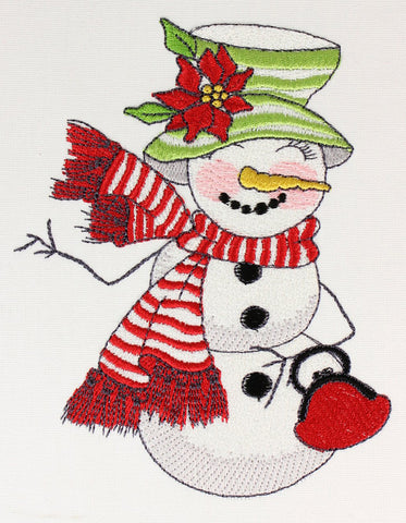 Snow Happy Embroidery Machine Design | Download