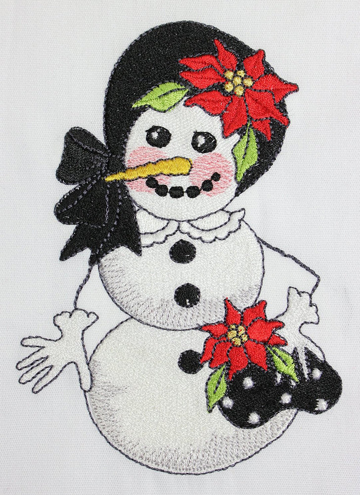 Snow Sweetie Embroidery Machine Design | Download