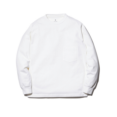 SNOW PEAK APPAREL Heavy Cotton Crewneck in White